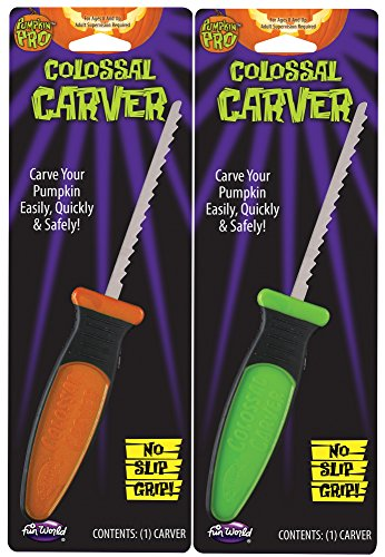 PUMPKIN PRO COLOSSAL CARVER PUMPKIN CARVING TOOL WITH NO-SLIP GRIP - GREEN or ORANGE