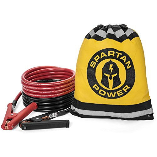 65f318048da0 15 Foot 1 0 AWG 0 Gauge Heavy Duty Jumper Cables Booster Set by Spartan