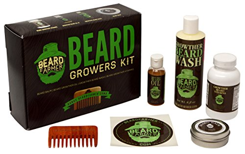 Price comparison product image Ultimate Beard Growth Kit - Faster Growth with Beard Farmer Beard Gift Set - Beard Kit Includes: All Natural Beard Oil, Beard Vitamins, Beard Balm, Beard Shampoo, Beard Comb