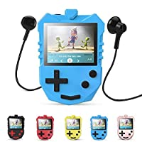 AGPTEK MP3 Player for Kids, Portable 8GB Music Player with Built-in Speaker, FM Radio, Voice Recorder, Expandable Up to 128GB, Blue(K1)