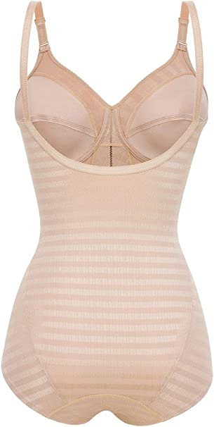 Felina 5076-4 Womens Weftloc Black Non-Padded Non-Wired Firm//Medium Control Slimming Shaping All In One Body