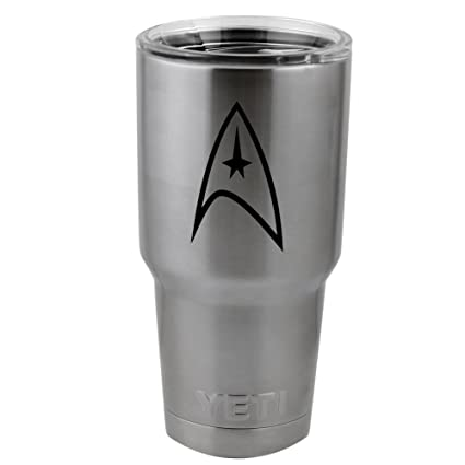 Star trek inspired federation symbol vinyl sticker decal for yeti mug cup thermos pint glass
