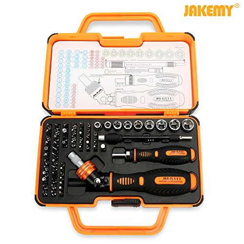 Jakemy JM-6111 69 in 1 Household Double ratchet screwdriver set Household, Mobile, Cellphone, Tablet, Laptop, Electronics