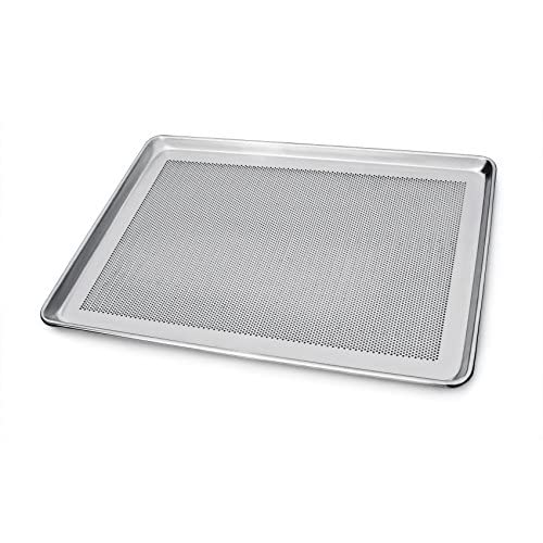 New Star Foodservice 36770 Commercial 18-Gauge Aluminum Sheet Pan, Perforated 18 x 26 x 1 inch (Full Size)