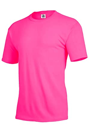 Delta Apparel Unisex Mens Womens Plain Performance Dri T-Shirt (3XL, Safety Pink