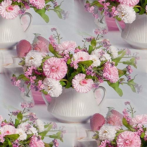 Allywit Creative 5D DIY Diamond Romantic Pink Flower Painting Full Drill Cross Rhinestone Embroidery for Wall Decoration Supply Arts Craft ()