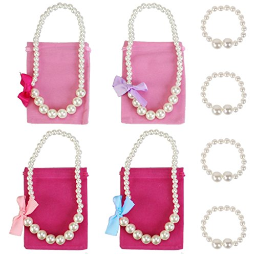 kilofly Princess Party Favor Jewelry Value Pack, Necklace