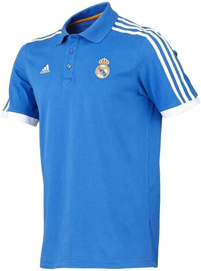 adidas Hombres Camiseta Real Madrid Fútbol Core Polo, Azul, M ...