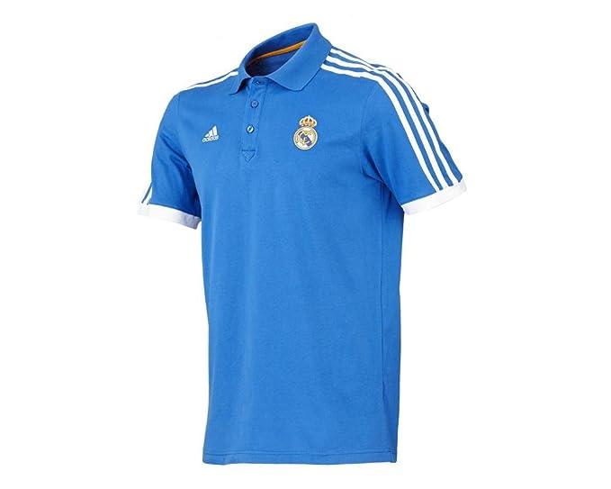Adidas Hombres camiseta Real Madrid Fútbol Core Polo, Azul, M: Amazon.es: Ropa y accesorios