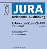 Jura-Kartei (JK) auf CD-ROM. Edition 2008: Sämtliche JURA-Karteikarten von 1979 bis 7/2008