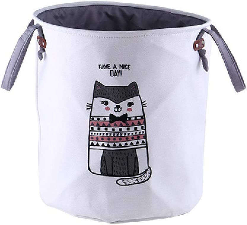 yqs Storage Box Dirty Hamper Basket Dirty Dirty Clothes Hamper Laundry Hampers,British Short Cat Pattern Laundry Hampers Multiuse Storage Bag with Handle Collapsible Storage Household Sundries Bag So