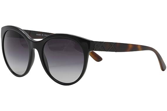 8c4de4a4738a Amazon.com  Burberry Women s 0BE4236 Black Gray Gradient Sunglasses ...