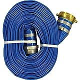 JGB Enterprises A008-0486-1625 Eagle-Flo Blue PVC Discharge Hose, 3'' x 25', Male x Female Water Shank Couplings, 70 psi Working Pressure, -4 degree F to 150 degree F
