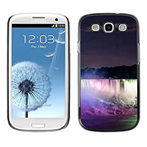 LECELL -- Funda protectora / Cubierta / Piel For Samsung Galaxy S3 I9300 -- Niagara Falls --