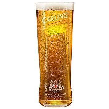carling pint glasses ce 20oz 568ml set of 4 branded carling glasses