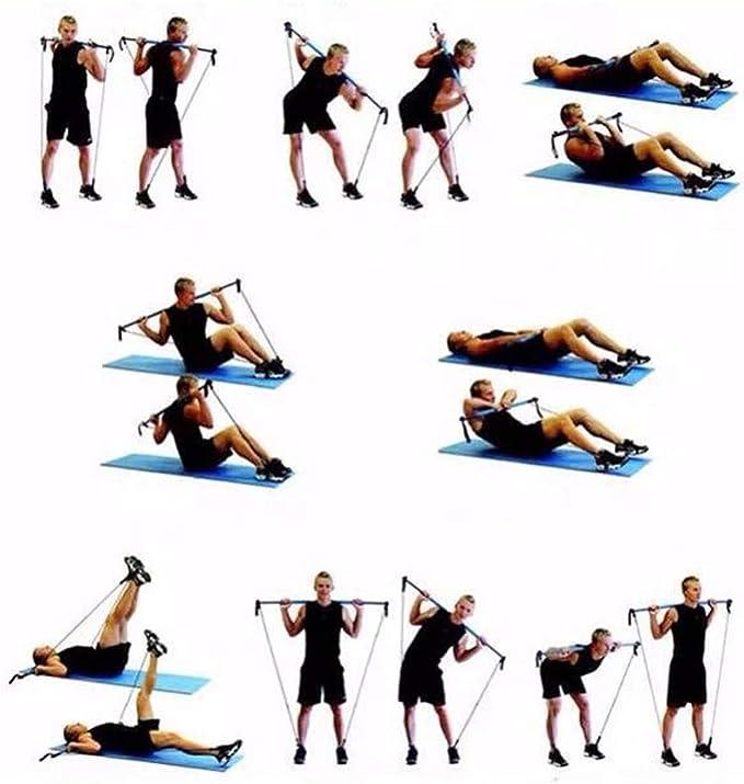 Long Resistance Band Bar Fitness Pilates Bar For Bodybuilding ...