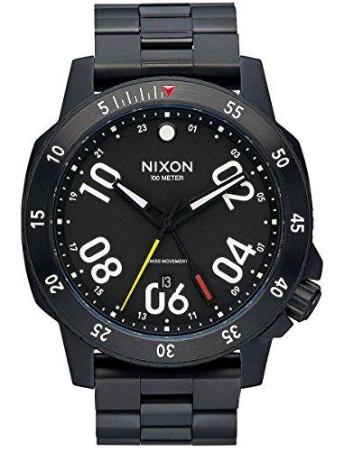 Black The Ranger GMT Watch by Nixon