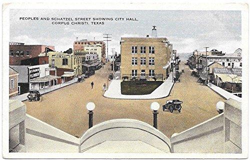 Linen Postcard Peoples Schatzel Street in Corpus Christi, Texas~99590