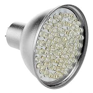 GU5.3 3.5W 60-LED 320-360LM 6000-6500K Natural White Light LED Spot Bulb (12V)