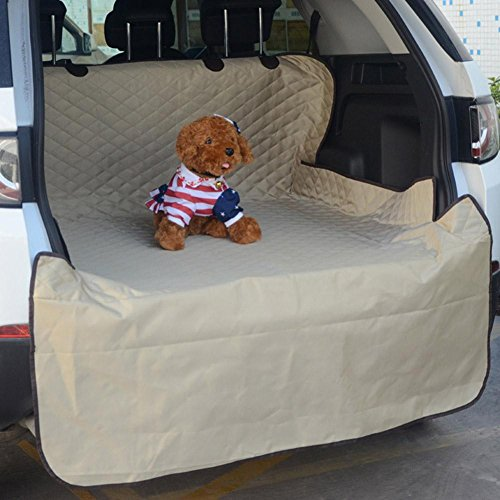 Zero Dog Car Seat Cover Waterproof With Dog Seat Belt Car Pet Padded Trunk Waterproof Seat Cushion Dog Supplies Pet Car Cushion Dog Mat ZD-004, beige ()