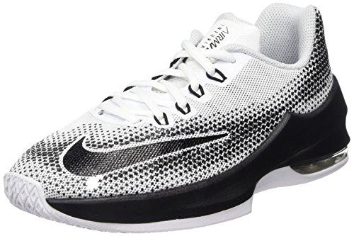 Nike Boy's Air Max Infuriate (GS) Basketball Shoe White/Black-Wolf Grey-Pure Platinum 4