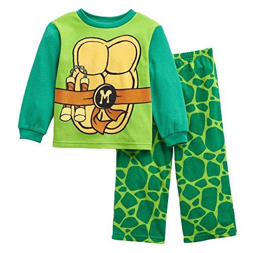 Nickelodeon Teenage Mutant Ninja Turtles Fleece Pajama Set (Michaelangelo Ninja Turtle)