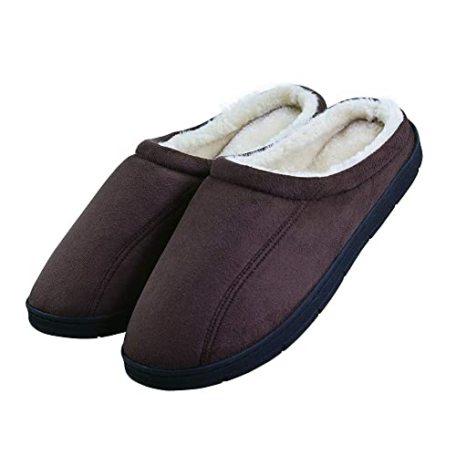 ceae2e689 LA PLAGE Men s Cozy Soft Comfortortable Memory Foam Bedroom Slippers Size  8-9 US Dark