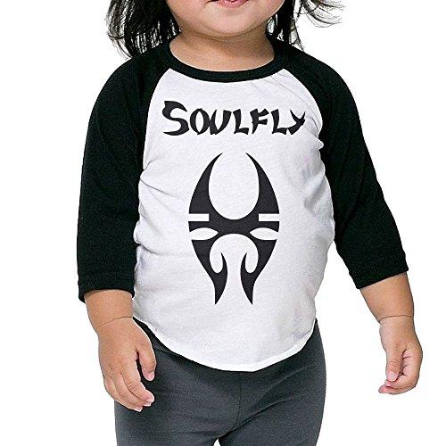 (Matta Infant Soulfly Raglan Baseball T-Shirt for Girls & Boys Black 5-6 Toddler)