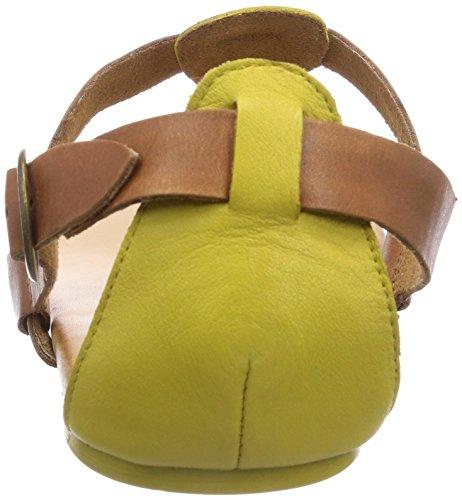 Caprice 28105 - sandalias abiertas de piel mujer multicolor - Mehrfarbig (YELLOW/COGNAC/630)