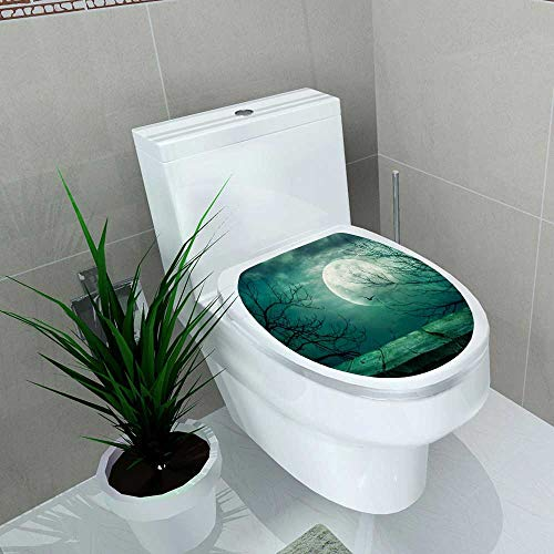 Auraise-home Decal Wall Art Decor Halloween for Toilet Decoration W13 x L18 ()