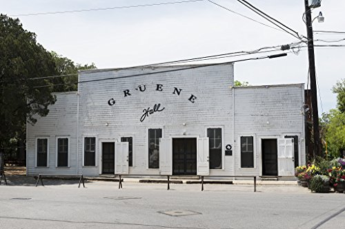 18 x 24 Art Canvas Print of Built by Christian Herry in 1878 Gruene Hall in New Braunfels is one of the oldest dance halls in Texas. Gruene was a communal farming community. The one-story structure fe