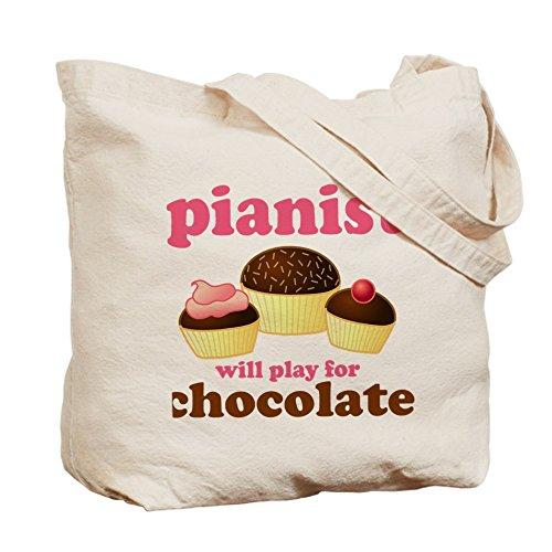 CafePress–Chocolate pianista–Gamuza de bolsa de lona bolsa, bolsa de la compra