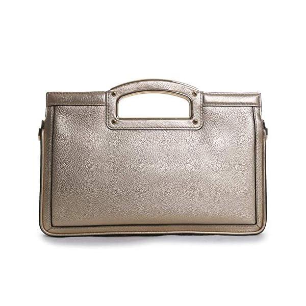 MICHAEL Michael Kors Berkley Legacy Large Clutch Silver One Size 4