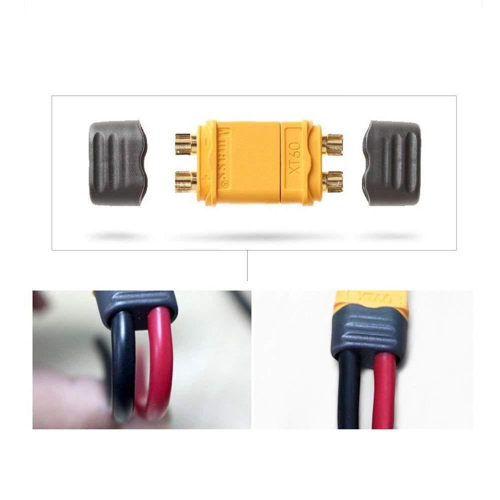 Amass XT60H Conectores para RC Avi/ón Drone Lipo Bater/ía de Litio HRB 5 Pares Amass XT60 Conector con Carcasa