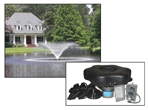 Kasco Decorative Aerating Lake & Pond Fountain WITH LED LIGHTS - 3/4 HP VFX 100ft cord