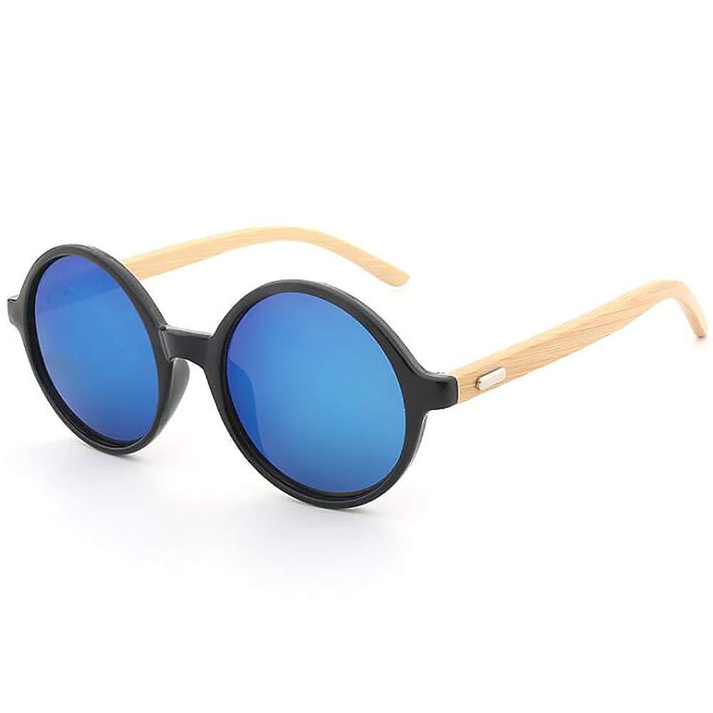 SHEEN KELLY Redondas Gafas de sol retro bambú ligero gafas ...