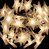 Ouniman 20 Stars LED Curtain String Lights, Rope Light Window Lights Decoration for Christmas, Wedding, Party, Home, Patio Lawn - Yellow