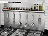 Ancona PBS-1236 36 in. x 30.75 Backsplash with Stainless Steel Shelf and Hooks