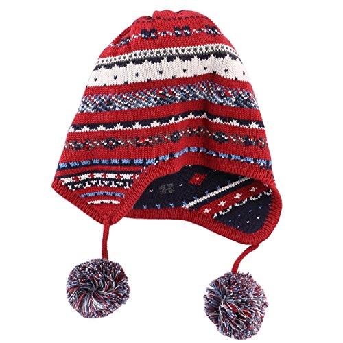 Tyidalin Bonnet Bébé Garçon Chaud Crochet Tricot Pompon en Coton pour Hiver  Automne Chapeau Enfant Protection Oreille pour 6 Mois - 10 Ans  Amazon.fr   ... 2d5da97401b