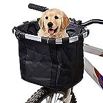 Cestino-Anteriore-Bici-Staccabile-Animale-Domestico-Vettore-Lega-di-Alluminio