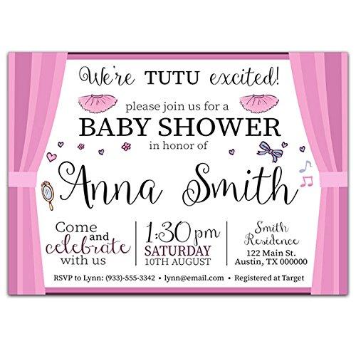 Ballerina Baby Shower Invitations - 2