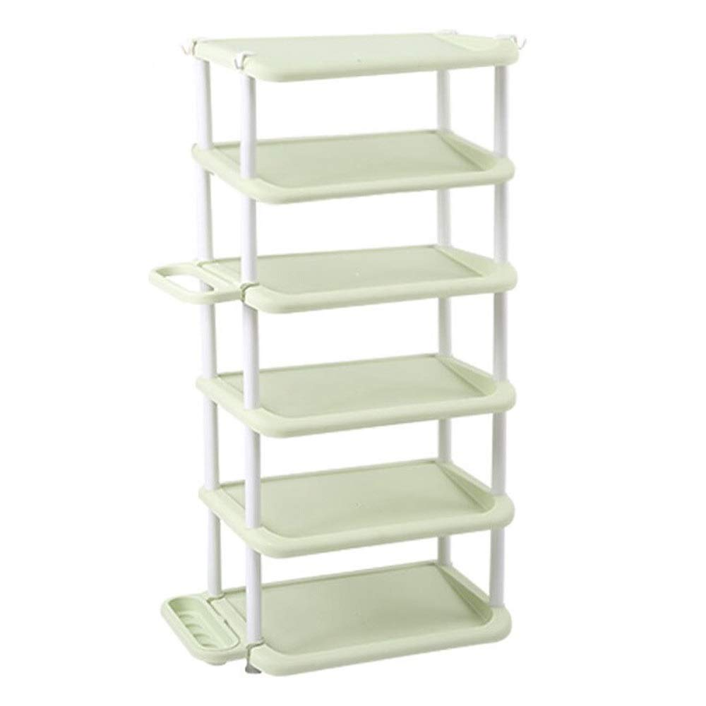 RMXMY Simple Furniture Shoe Rack Dormitory Multi-Functional Multi-Layer Assembly Plastic dust-Proof Shoe Cabinet Large Capacity Storage Rack Rack (Color : Green, Size : 6 Floors)