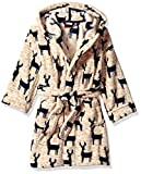 Petit Lem Kids' Little Holiday Unisex Hooded Robe, Comfy, Cute and Cozy Softness, Heather Beige, 14