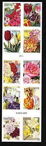 Botanical Art 2016 Issue - Booklet Pane of 10 Forever Stamps By USPS ()