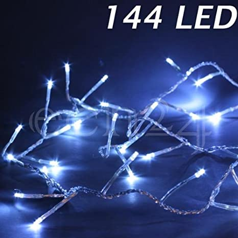 Guirnalda de luces LED con 3 mm de pequeñas 144 LED cable transparente: Amazon.es: Iluminación