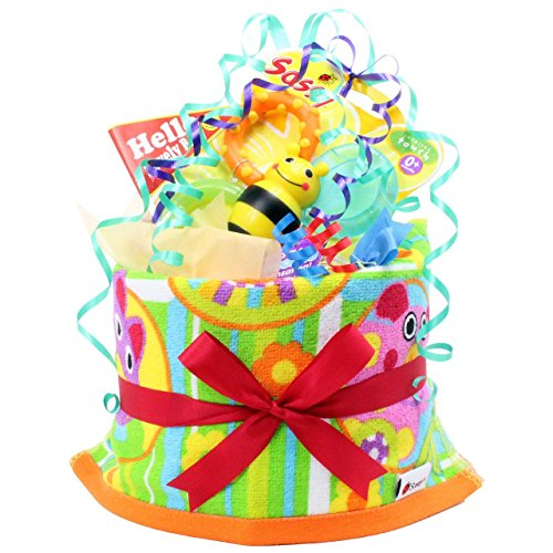 The diaper cake ''My Little Pal'' fun pop in celebration of the birth (japan import) by Haroga workshop