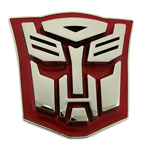 Logo Belt Buckle Buckles (Licensed Transformers Movie Brushed Silver Autobot Red New Superhero Belt Buckle)