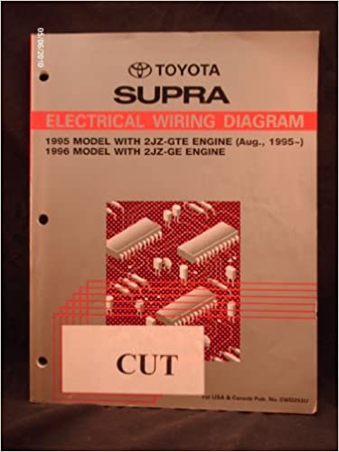 1995 1996 toyota supra electrical wiring diagram shop repair manual (1995  model with 2jz-gte engine & 1996 model with 2jz-ge engine) paperback – 1993