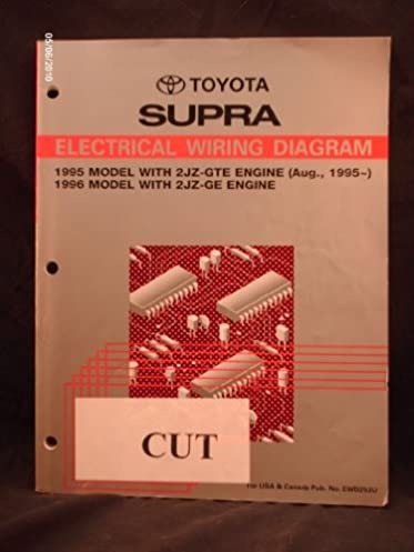 1995 1996 toyota supra electrical wiring diagram shop repair manual rh amazon com 89 Toyota Supra 1993 Toyota Supra