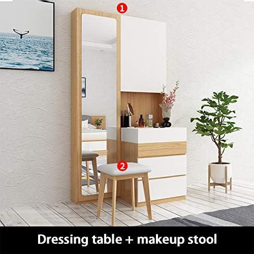 Moderne minimalistische kaptafel | met kluisjes | passpiegel | slaapkamer kaptafel | lengte 1000 * hoogte 1805 * breedte 185 mm